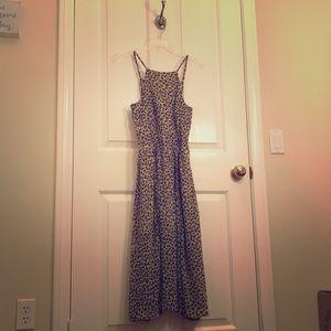 Abercrombie cheetah print midi dress